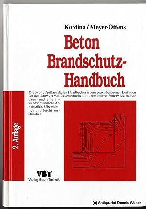 Beton Brandschutz Handbuch Von Karl Kordina Abebooks
