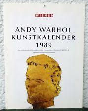 ANDY WARHOL Kunstkalender 1989. Konzeption Sabine Maier.: WARHOL, Andy: