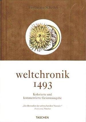 """Weltchronik.""""Liber Chronicarum"""". Nachdruck der kolorierten Gesamtausgabe von: Schedel, Hartmann:"""