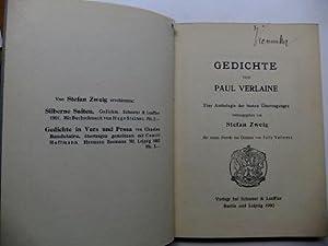 Paul Verlaine Gedichte Stefan Zweig 1902 Stichwort