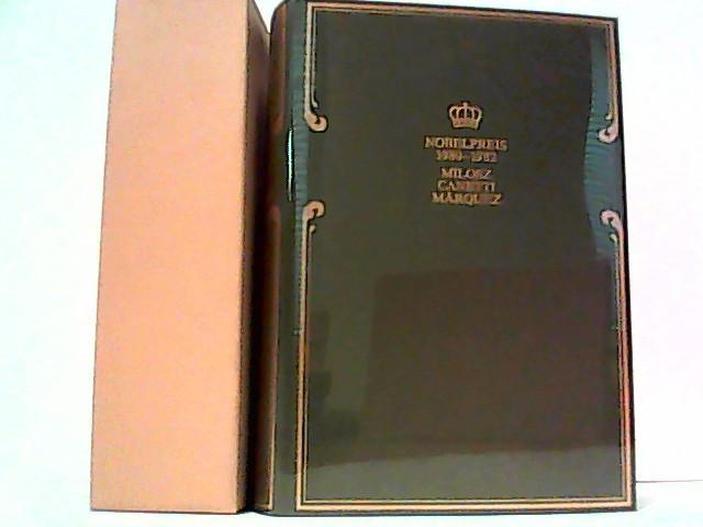 Nobelpreis für Literatur 1980-1982. 3 Bände in: Coron Exclusiv, Milosz/Canetti/Marquez: