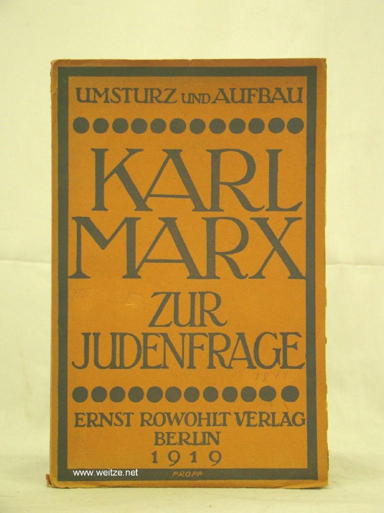Zur Judenfrage von Karl Marx,: Grossmann, S. (Herausgeber),: