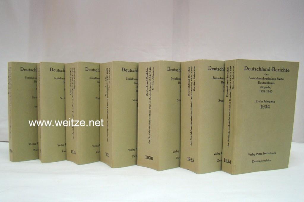 Deutschland-Berichte der Sozialdemokratischen Partei Deutschlands (Sopade) 1934: Rinner, E. (Herausgeber),: