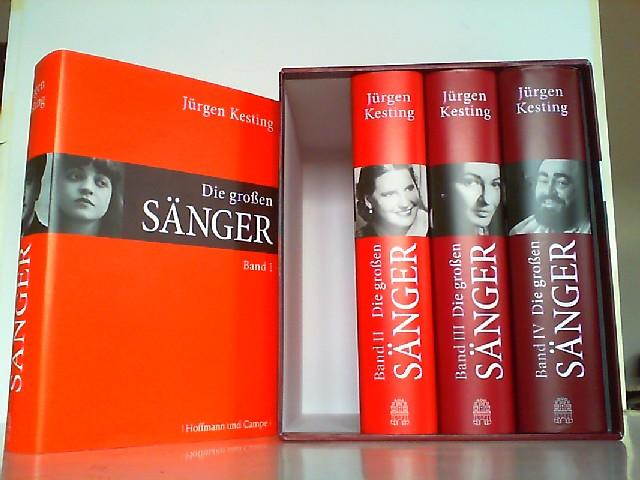 Die großen Sänger. Hier Band 1-4 in 4 Büchern in Schuber KOMPLETT! - Kesting, Jürgen