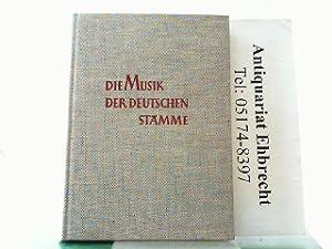 Die Musik der deutschen Stämme.: Moser, Hans Joachim: