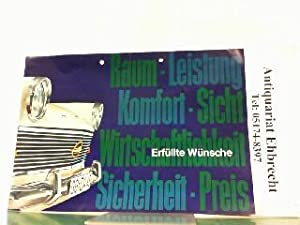 Anerkanntes Opel Zubehör für ihren Rekord.: Opel, Werbe-Prospekt: