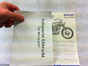 Ducati 250 Monza. Werbeblatt.: Ducati, Werbe-Prospekt: