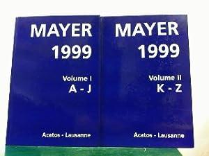 Mayer. Le livre international des ventes aux encheres 1999. 37 annee. Janvier - Decembre 1998. ...