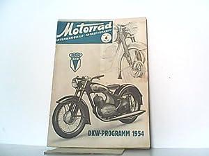 Motorrad. 7. Jahrgang, Heft 4 / 274, 23.01.1954. Internationale Fachzeitschrift. Mit Themen u.a.: ...