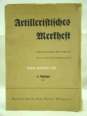 Artilleristisches Merkheft,: Lenhard, R.,: