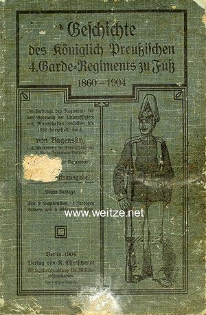 Geschichte des königlich preußischen 4. Garde - Regiments zu Fuß 1860 - 1904,: Bagensky, v.,: