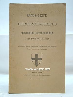Rang-Liste und Personal-Status des Deutschen Ritterordens für das Jahr 1884,: N.N.,: