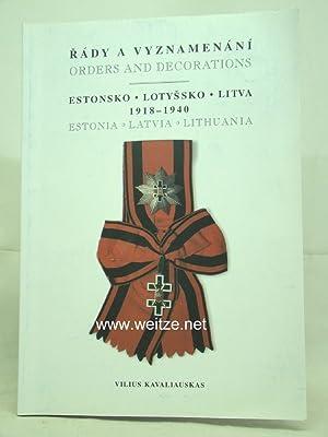 Rády A Vyznamenání Estonsko, Ltyssko, Litva 1918-1940: Kavaliauska, V.,: