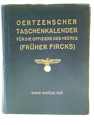 Oertzenscher Taschenkalender für die Offiziere des Heeres,: Westarp, E.-J. Graf v.,: