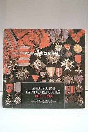 Auszeichnungen in der Republik Lettland 1918 -: Ducmane, K.,: