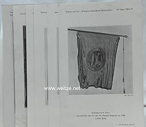 Konvolut von 7 Blatt mit Abbildungen historischer Fahnen aus der Zeitschrift Beiträge zur ...