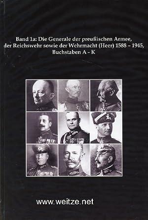 Die Liste der Generale der brandenburgischen / preußischen Armee, der Reichswehr sowie der ...