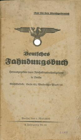 Deutsches Fahndungsbuch - 2. Jahrgang Nr. 53: Reichskriminalpolizei in Berlin