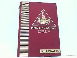 Kurzwaren-Katalog Ausgabe F: Mittag AG, Heinrich:
