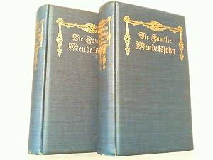 Die Familie Mendelssohn 1729-1847. Nach Briefen und Tagebüchern. Hier Band 1 und 2 in 2 Büchern ...