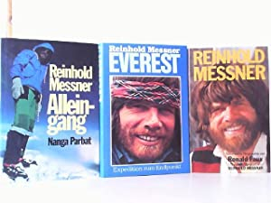 3 Bücher - 1. Alleingang Nanga Parbat. / 2. Everest - Expedition zum Endpunkt. / 3. Reinhold Mess...