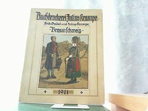 Braunschweig - Kallender 1911. Fünfzig Jahre Arbeit: Krampe Julius und