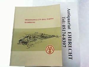 15 Jahre Messwandler-Bau GmbH Bamberg 1946-1961.: Raupach, Friedrich: