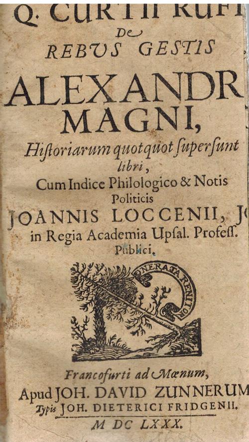 De Rebus Gestis Alexandri Magni, Historiarum quotquot ...
