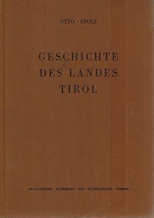 Geschichte des landes Tirol Quellen und Literatur.: Stolz, Otto: