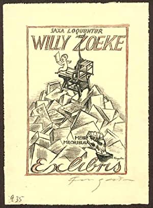 Exlibris für Willy Zoeke.