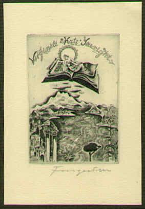 Exlibris für Virginia Kate Searight.