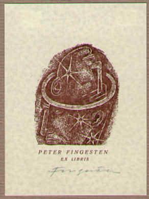 Exlibris Peter Fingesten.: Fingesten, Michel: