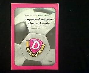 Europapokal-Programmheft: Dynamo Dresden - Feyenoord Rotterdam. 04.11.1981.