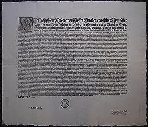 (Bekanntmachung, Edikt von 1772, bezüglich Handwerksmißbräuchen, Blauer Montag.etc....