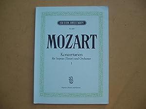 Konzertarien [Konzert-Arien] fur Sopran [Tenor] und Orchester.: W. A. Mozart