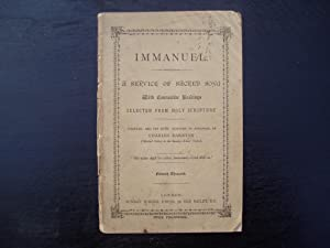 Immanuel. A Service of Sacred Song with: Charles Darnton