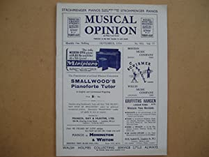 Musical Opinion [and Music Trade Review]. No.: Laurence Swinyard