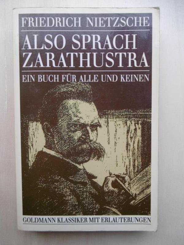 Also sprach Zarathustra. Ein Buch für alle: Nietzsche, Friedrich: