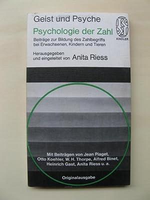 Psychologie der Zahl. Beiträge zur Bildung des: Riess, Anita (Hrsg.):