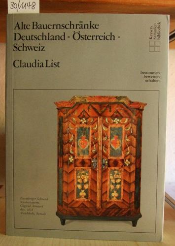 alte bauernschraenke deutschland von claudia list - ZVAB
