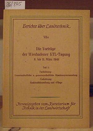 Die Vorträge der Wiesbadener KTL-Tagung vom 8.: Kuratorium für Technik