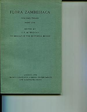 Flora Zambesiaca Volume 3 Part 1: Brenan, J P M