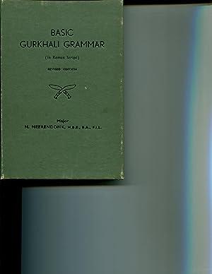 Basic Gurkhali Grammar (In Roman Script) Fourth Edtion: Meerendonk, M.