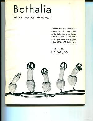 Bothalia Vol. VIII Mei 1966 Bylaag No. 1: Codd, L. E.