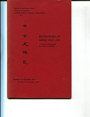 Biographies of Meng Hao-Jan: Frankel, Hans H. (trans. & annotated.)