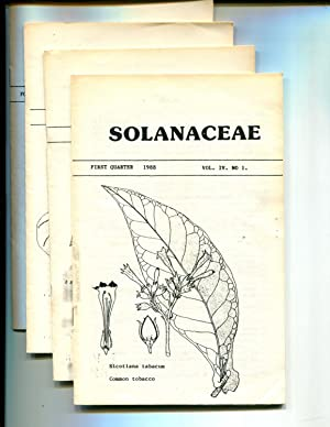 Solanaceae (Newsletter) Vol IV, 1988, No. 1 thru 4: Riley, John M. (editor)