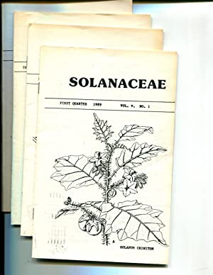 Solanaceae (Newsletter) Vol V, 1989, No. 1 thru 4: Riley, John M. (editor)
