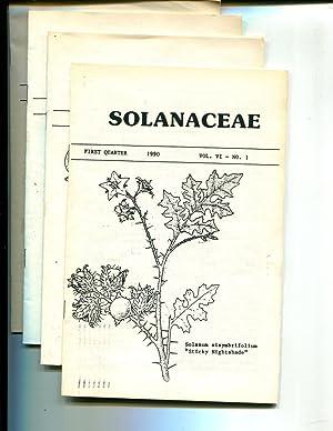 Solanaceae (Newsletter) Vol VI, 1990, No. 1 thru 4: Riley, John M. (editor)