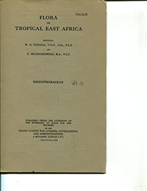 Flora of Tropical East Africa: Rhizophoraceae (1956): Graham, R.A.; Turrill, W.B. (editor); ...