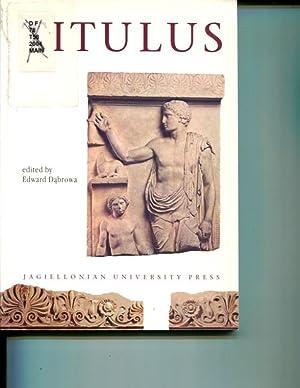 Titulus: Studies in Memory Dr. Stanislaw Kalita [Electrum Vol 8, Studies in Ancient History): ...